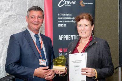 Behalf of Sian Bentley 400x267 - Apprenticeship Awards 2019