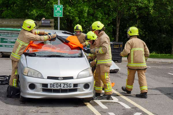 Fire and Rescue Visit College