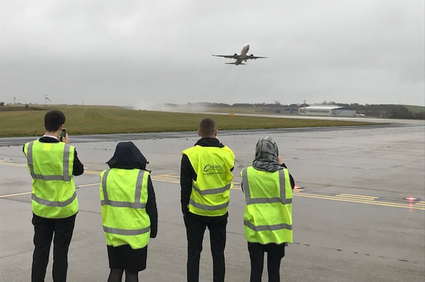 WEB LBA Landside visit - World of Work Week Wows Aviation Students