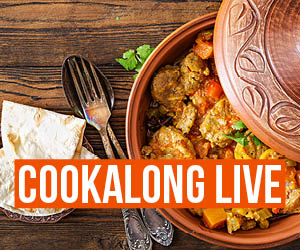 Cookalong Live – Moroccan Chicken & Vegetable Stew with Flatbreads