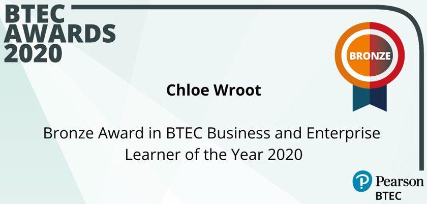 Sutton in Craven Student Wins Prestigious Business & Enterprise BTEC 2020 Award -
