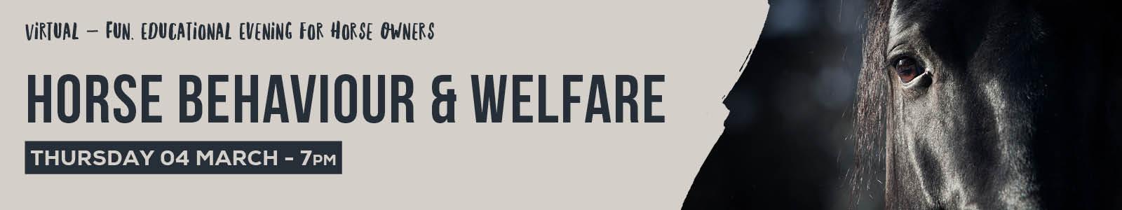 Horse Behaviour & Welfare 92050