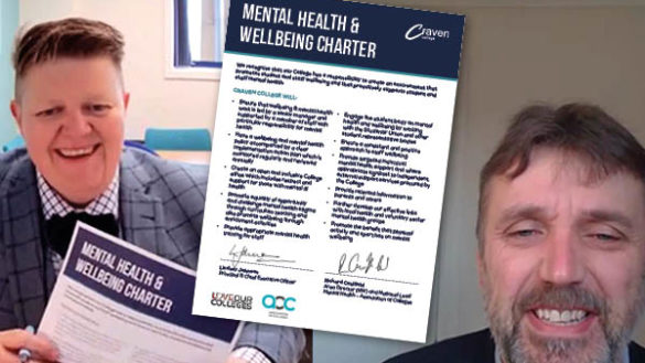 Craven College signs AoC Mental Health Charter - 92177