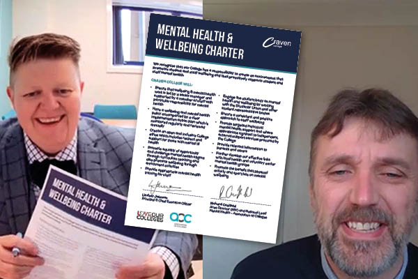 Craven College signs AoC Mental Health Charter -