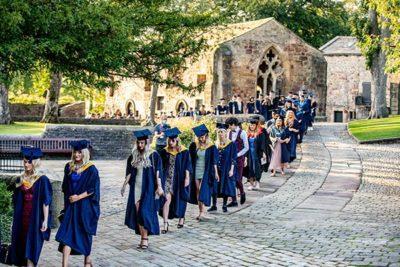 Graduate procession through Skipton Castle 400x267 - Craven College celebrates its graduates' success alt